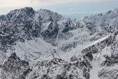Winter mountain peaks — Stock Photo