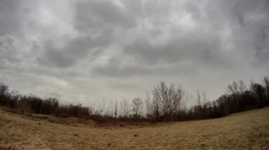 Rain clouds moving on time lapse video — Stock Video
