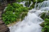Waterfall at Plitvice Lakes Nationa Park, Croatia — Stock Photo