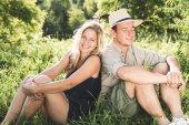 Happy loving couple on engagement day — Stock Photo