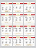Russian calendar planner 2016 — Stock Vector