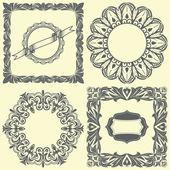 Vintage set of frames & labels — Stock Vector
