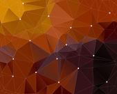 Dark brown triangle background — Stock Vector