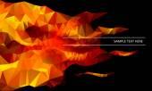 Fire triangular background — Stock Vector