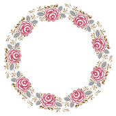 Frame of roses in vintage style — Stock Vector