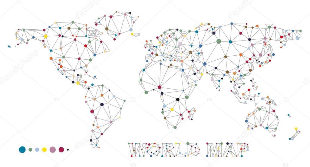 结构与点和线的世界地图 — 图库矢量图像08 bella