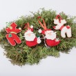 Christmas felt fabric deers and santa clauses — Stock Photo #63884333