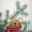 Christmas knitted bear — Stock Photo #63885613