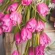 Постер, плакат: Bouquet of pink tulips