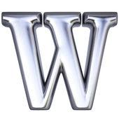 Alphabet letter W — Stock Photo