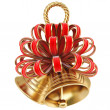 Golden bells with red bow. — Stock Photo #63458313