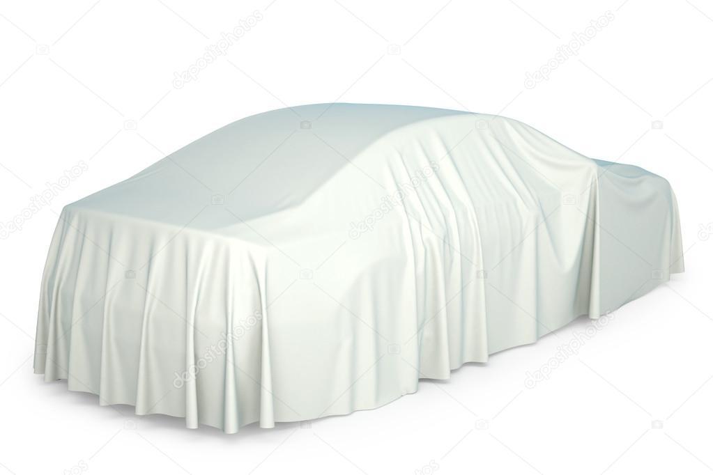voiture recouvert d 39 un drap blanc photo 75194611. Black Bedroom Furniture Sets. Home Design Ideas