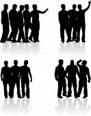 Silhouettes of a man. — Stock Vector