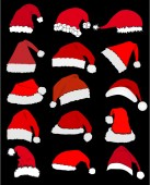 Santa Claus Hat  — Stock Vector