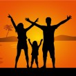 Family on vacations — Stock Vector #55910555