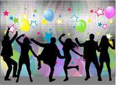 Party People Dancing  — Stock vektor