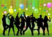 Silhouettes de danse — Vecteur