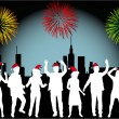 Vector Illustration - City Celebration People — Stock Vector #57252161