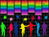 Dancing silhouettes — Stock Vector