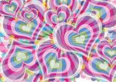 Fundo Dia dos Namorados com corações — Vetor de Stock