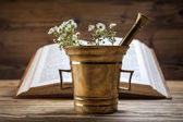 The ancient natural medicine, herbs and medicines — Stock Photo