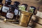 The ancient natural medicine, herbs and medicines — Foto de Stock