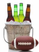 Beer Bucket with Football — Stock fotografie
