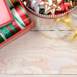 Tins of Ribbons and Bows Vertical — Stock Photo #54697811