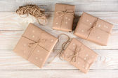 Brown Packages With Stars — Stock Photo
