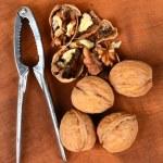 Nutcracker and Walnuts Vertical — Stock Photo #57556909