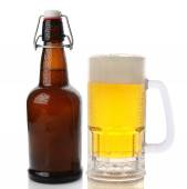 Mug and Flip Top Beer Bottle — Stock Photo