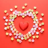 Scattered Valentines Hearts — Stock Photo