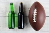 Beer and Football — Stock Photo