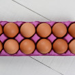 Dozen Brown Eggs — Stock Photo #67941641