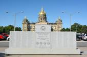 WWII Monument in Des Moines Iowa — Stock Photo