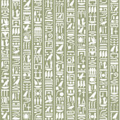 Ancient Egyptian hieroglyphic decorative background — Vettoriale Stock