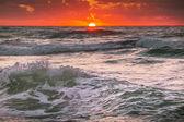 Prachtige zonsopgang boven de horizon — Stockfoto