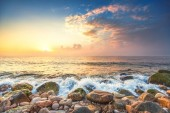 Sea landscape and the cloudy sky  — Stock Photo