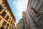 Description: Detail of the facade of Duomo Cathedral Santa Maria — Stock Photo