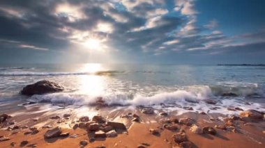 Beautiful cloudscape over the sea, video — Stock Video