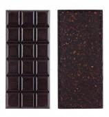 Handmade, bio chocolate isolated on white — Stock Photo
