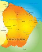 French Guiana — Stock Vector