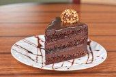 Chocolate cake piece — Stock Photo