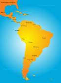 South America countries — Vector de stock