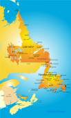 Newfoundland — Stock Vector