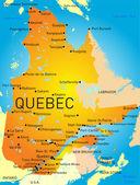 Quebec provinsen — Stockvektor
