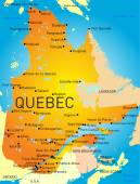 Provincia de quebec — Vector de stock