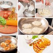 Cooking corn pancakes — Foto de Stock