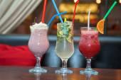 Three healthy nonalcoholic cocktails — Stockfoto