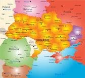 New map Ukraine — Stock Vector